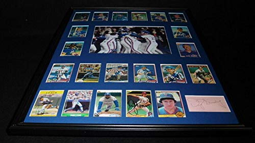 1986 New York Mets World Series Champs Team Signed Framed 18x24 Photo Display - Autographed MLB ()