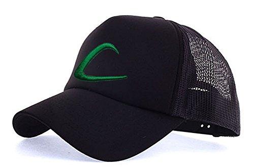 myglory77mall Sombrero de Animado para Hombre Todo Negro T1