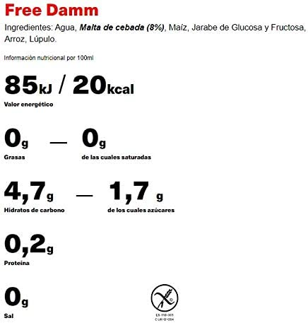 Free Damm Cerveza Sin Alcohol - Lata 33cl: Amazon.es ...