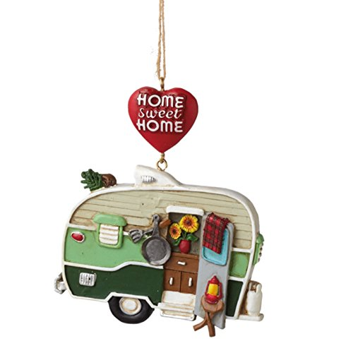 Home Sweet Home Camper Trailer made our list of the most unique camping Christmas tree ornaments to decorate your RV trailer Christmas tree with whimsical camping themed Christmas ornaments!