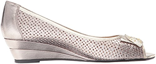 J.renee Mujeres Dovehouse Wedge Pump Taupe / Gold