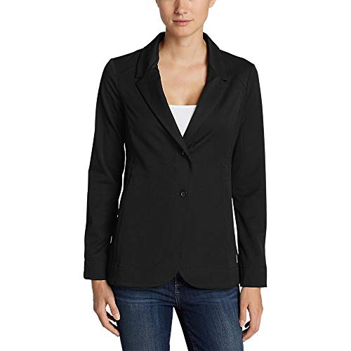 Eddie Bauer Women's Travel Blazer, Black Regular 10