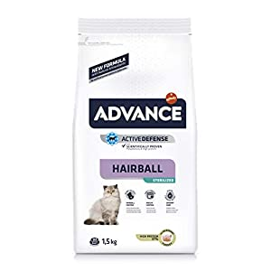 ADVANCE Hairball Pienso para Gatos Esterilizados – 1,5Kg