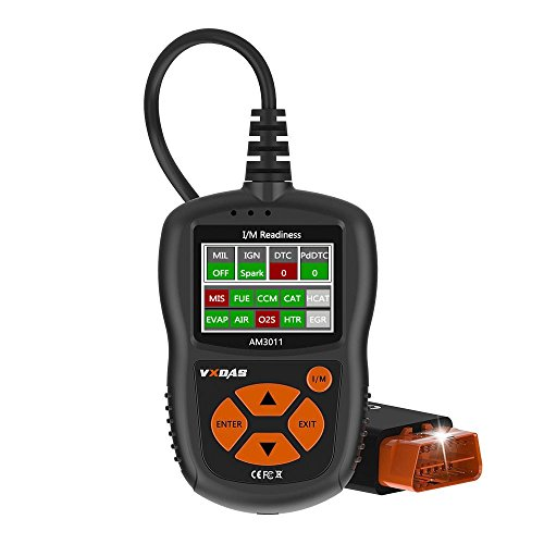 OBD2 Scanner OBDII Scan Tool Auto Diagnostic Scanner Car Code Reader Smart Vehicle ECU ECM ODB Professional Universal VXDAS AM3011 for Car, SUV, Truck and VAN