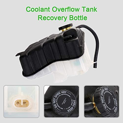 OCPTY Coolant Reservoir Bottle Coolant Overflow Tank Fits For Cadillac Oldsmobile Pontiac 26032950 25774005