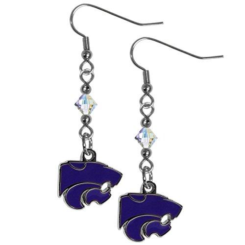 - NCAA Kansas State Wildcats Women's Crystal Dangle Earrings