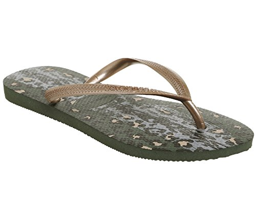 Green Tongs Slim Olive Havaianas Femme Animals xFnIgxUp