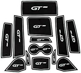 Tapis de sol en caoutchouc antid/érapant pour 3008 GT 2017 2018//5008 GT 2017 2018 blanc