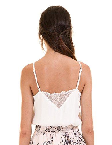 Top ibicenco encaje de Vila Clothes Blanco