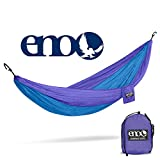 ENO - Eagles Nest Outfitters DoubleNest Hammock, Portable Hammock for Two, Purple/Teal