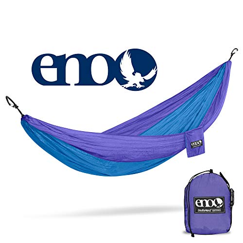 Eagles Nest Outfitters - ENO DoubleNest Hammock, Portable Hammock for Two, Purple/Teal