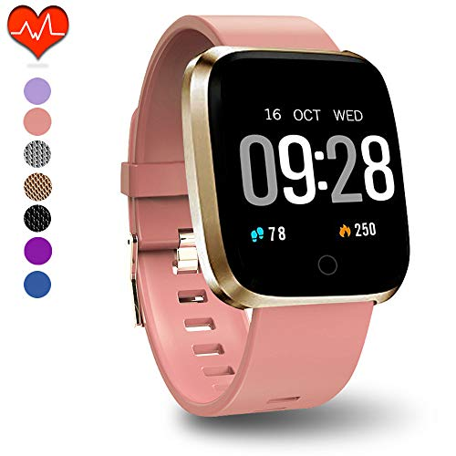 PUBU Fitness Tracker, Activity Tracker Watch with Heart Rate Monitor, IP67 Waterproof Fit Watch with Calorie Counter, Smart Fitness Band with Sleep Monitor, Pedometer Watch (Best Cheap Fitness Tracker)
