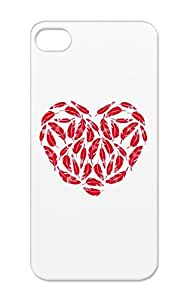 Feather Heart Red Love Real Love The Of My Life Hearts Gift Feather Feathered Feathers Pink For Iphone 5/5s TPU Protective Case