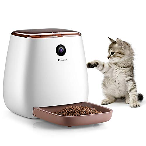 Houzetek Automatic Pet Feeder Dog Dispenser, Cat