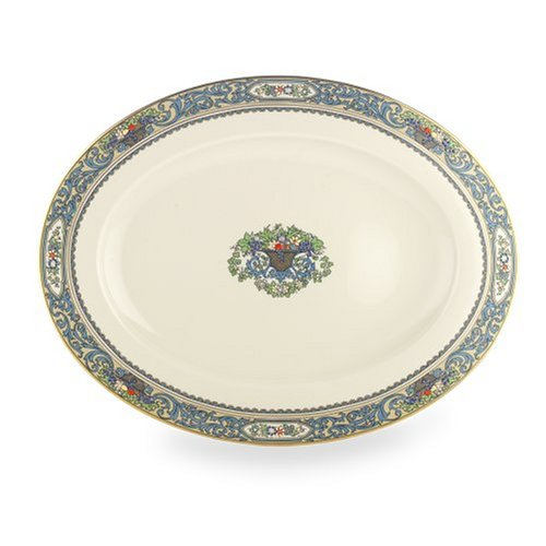 - Lenox Autumn Gold Banded Ivory China 16-Inch Oval Platter