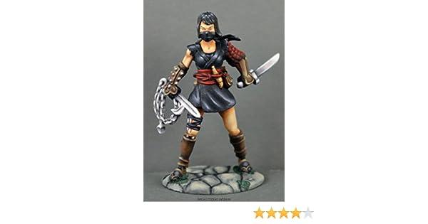 Kiri Female Ninja Miniature 25mm Heroic Scale Dark Heaven Legends Reaper Miniatures