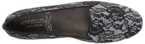 Women's Betunia Aerosoles Black Grey Lace Loafer BSRdTRqx