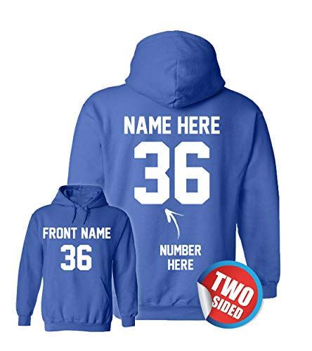 Custom Hoodies for Kids - Hockey Sweatshirts - Personalized Hoodys for Football