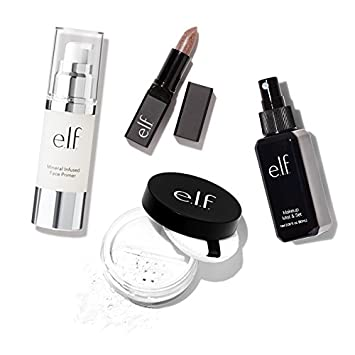 elf Cosmetics Must Have Essentials Kit, Four Piece Kit for Priming and  Setting Makeup