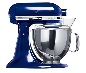 KitchenAid 5KSM150PSEBU - Robot de cocina, motor de 300 vatios, capacidad de 5 l, 10 velocidades, color azul cobalto: Amazon.es: Hogar
