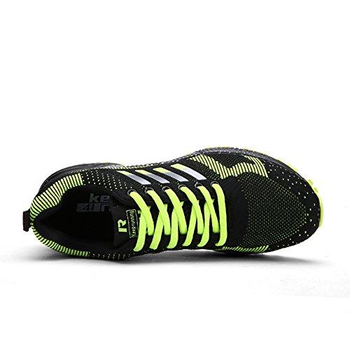 Noir Chaussures Et Sportifs Senbore Trainers 2 Baskets Sport Flats De Dcontractes Pour Vert Comptition Athltique Fitness Hommes dnqwZq6T