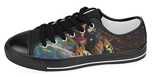 Kvinners Uformelle Sko Dame Lerret Sneaker Med Grateful Dead Tema Gd6