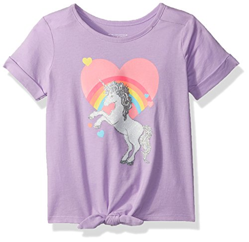 Ribbon Tee (The Children's Place Baby Toddler Girls' Short Sleeve T-Shirt, Purple Ribbon 77796, 2T)