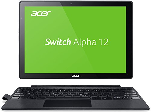 Acer Switch Alpha 12 (SA5-271-5623) 30,5 cm (12 Zoll QHD IPS) Convertible Notebook (Intel Core i5-6200U, 4GB RAM, 128GB SSD, Intel HD Graphics 520, Win 10) silber