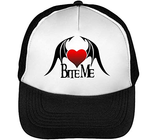 Beisbol Fashioned Bite Slogan Hombre Snapback Devil Blanco Gorras Negro Wing wRRqExZf0