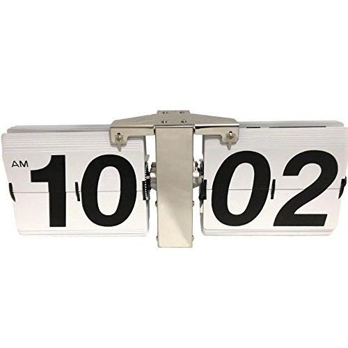 komanakomi フリップクロック デザイン時計 置時計 掛け時計 対応 インテリア (ホワイト) B078MJPTS9ホワイト
