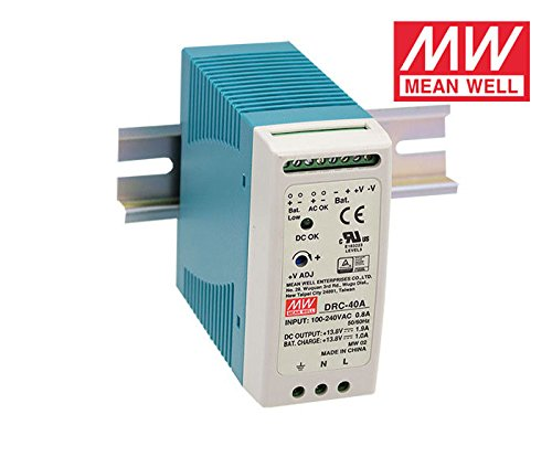 MEAN WELL DRC-40A 40W 12~15V AC/DC meanwell din rail security Power Supply with Battery charger(UPS function) DRC-40
