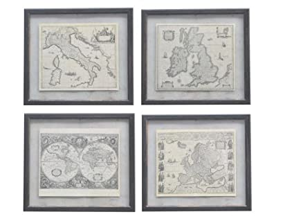 b6e848a434f Image Unavailable. Image not available for. Colour  Artisanti Club Style  Framed Map Prints - Set ...