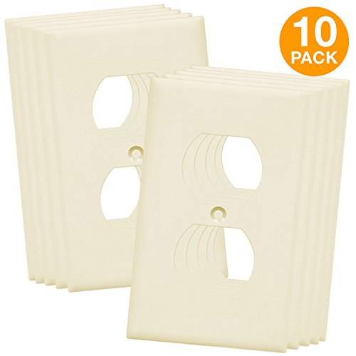 ENERLITES Duplex Receptacle Outlet Wall Plate, Size 1-Gang 4.50