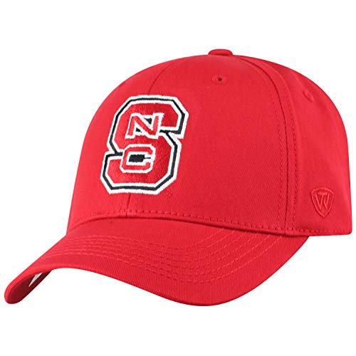 - NCAA North Carolina State Wolfpack Men's Fitted Relaxed Fit Team Icon Hat, Red