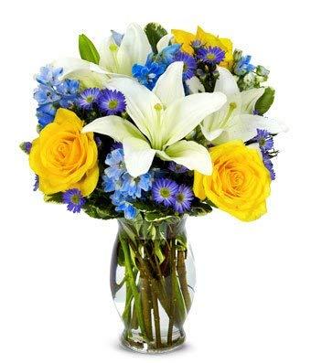 Flowers - Rosy Sunshine (Free Vase Included)