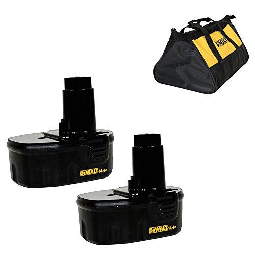 Dewalt DW9094 14.4V 1.3ah NiCd Battery - 2 Pack (Certified Refurbished)