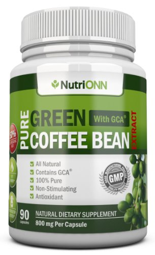 GREEN COFFEE BEAN Decoction with GCA, 800mg - 90 Vegetarian Capsules - Best Value For Price! - Highest Quality Pure Natural Coffee Wrest for Weight Loss