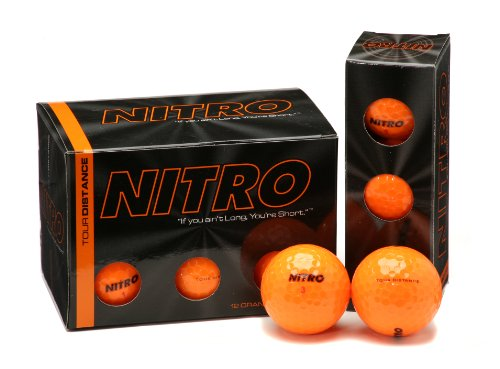 - Nitro Tour Distance Golf Ball (12-Pack), Orange