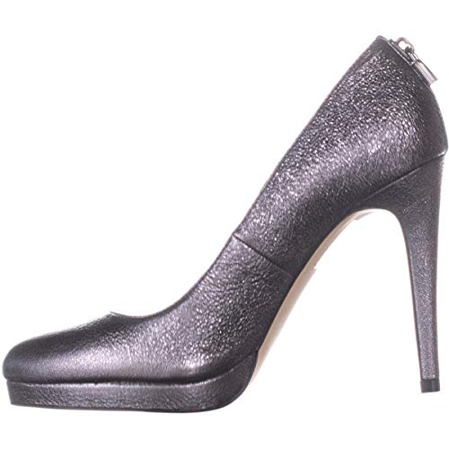 Michael Kors Womens Antoinette Leather Closed Toe Classic, Anthracite, Size 9.0 (Kostenloser Versand Michael Kors)