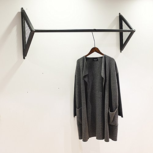 Wrought Iron Wall Mounted Coat Rack Retro Hook Wall Hanger Combination Clothes Shoes Hangers (Size : 80cm)