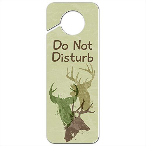 GRAPHICS & MORE Deer Heads Trio Design Hunting Hunter Camouflage Do Not Disturb Plastic Door Knob Hanger Sign