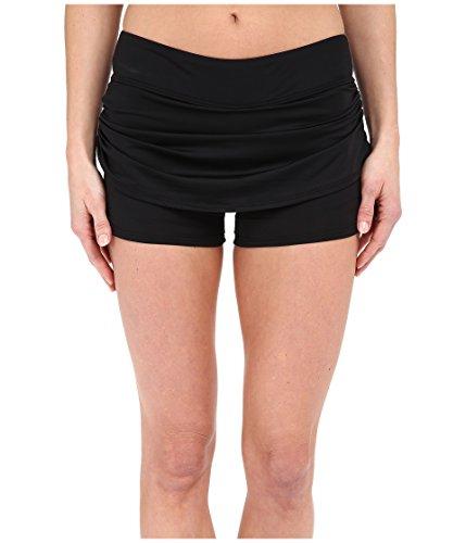 TYR Women's Solids Active Mini Skorts, Black, -