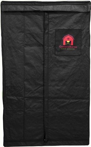41KRdByiUkL Geneva Barns GB40TW Reflective Hydroponic Grow Tent with T-Zipper, 48