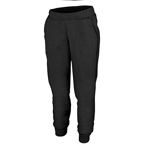 Augusta Activewear Ladies Tonal Heather Fleece Jogger, Black, Large