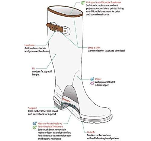 Chooka Women's Tall Memory Foam Rain Boot, Black, 7 M US by Chooka (Image #8)