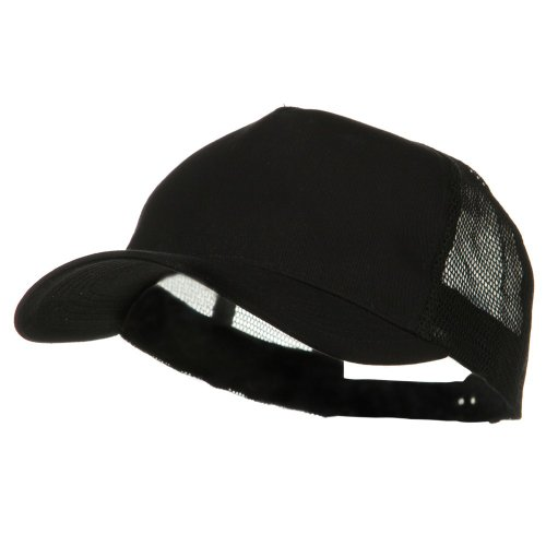 e4Hats.com New Big Size Trucker Mesh Cap - Black OSFM