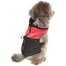 Alfie Pet by Petoga Couture - Stormy Waterproof Vest Coat - Color: Red, Size: Small