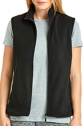 Buy womens small black fleece vest
