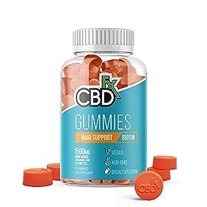 CBDfx Biotin Hair Support CBD Gummies (60 Gummy Bo...