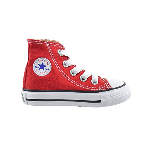 Converse All Star CT Infants Baby Toddlers Canvas Red/White 7j232 (3 M US)